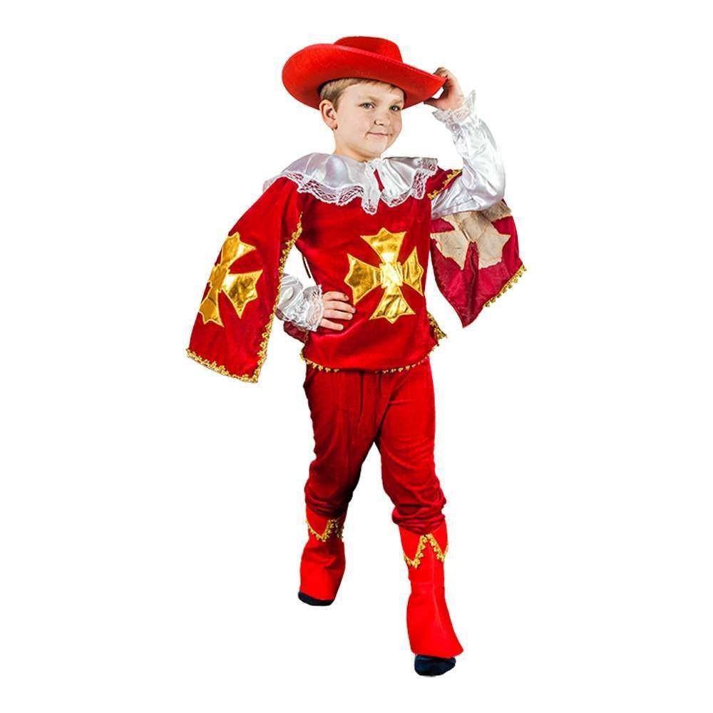 Маскарадный костюм Мушкетер красный размер S