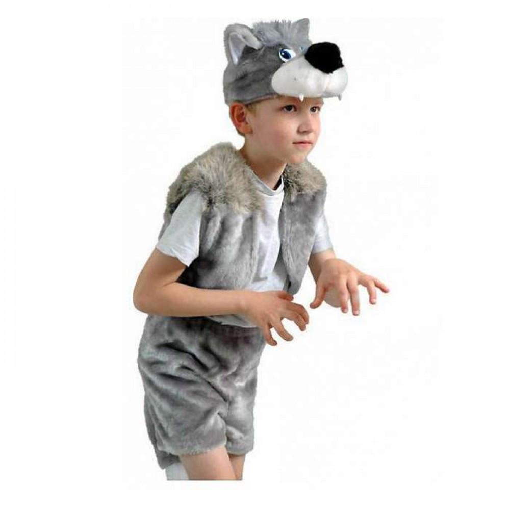 Маскарадный костюм меховой Волк размер S