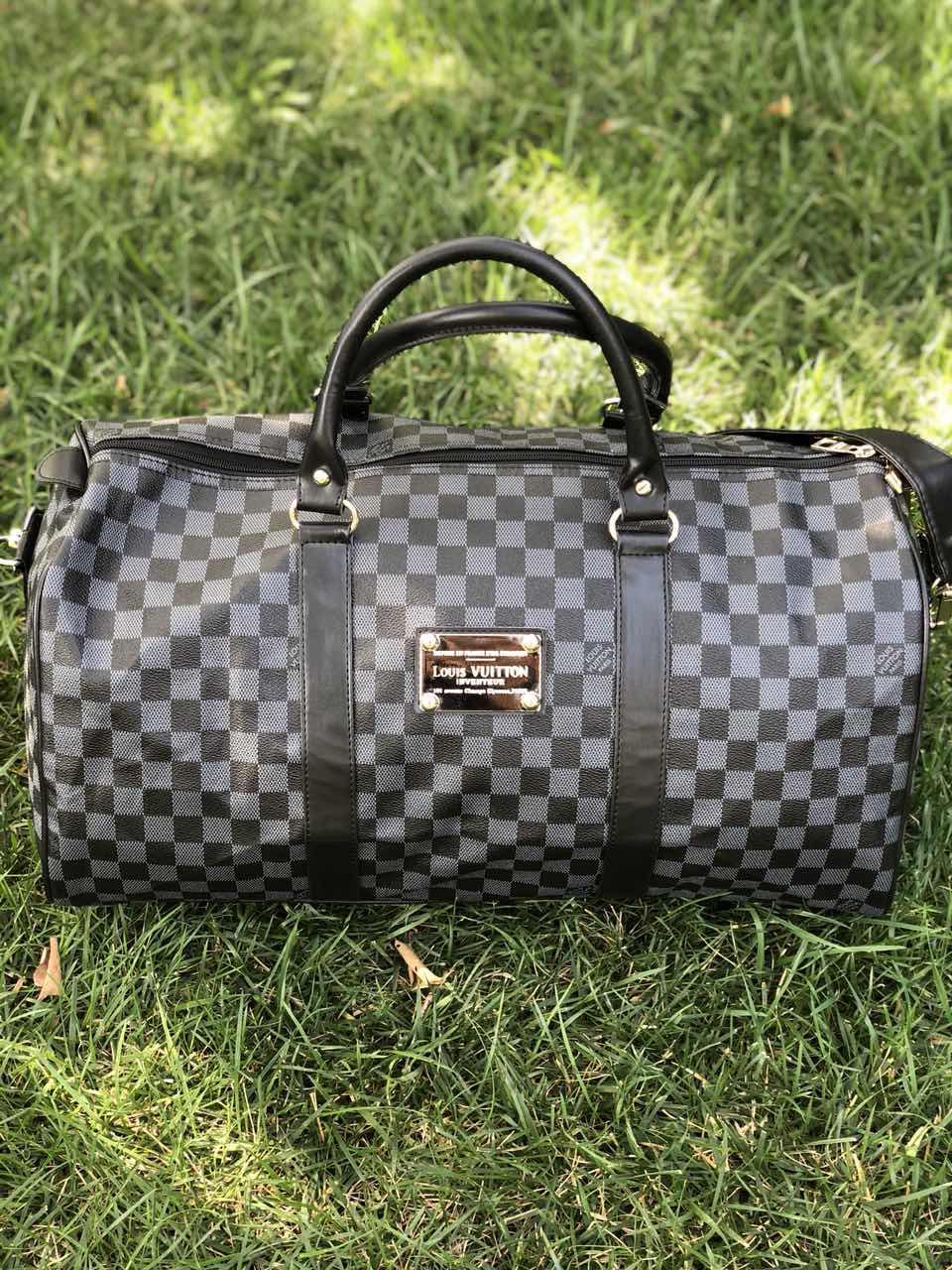 8fd235e24b96 Сумка саквояж Louis Vuitton D3764 серо-черная - купить по лучшей ...