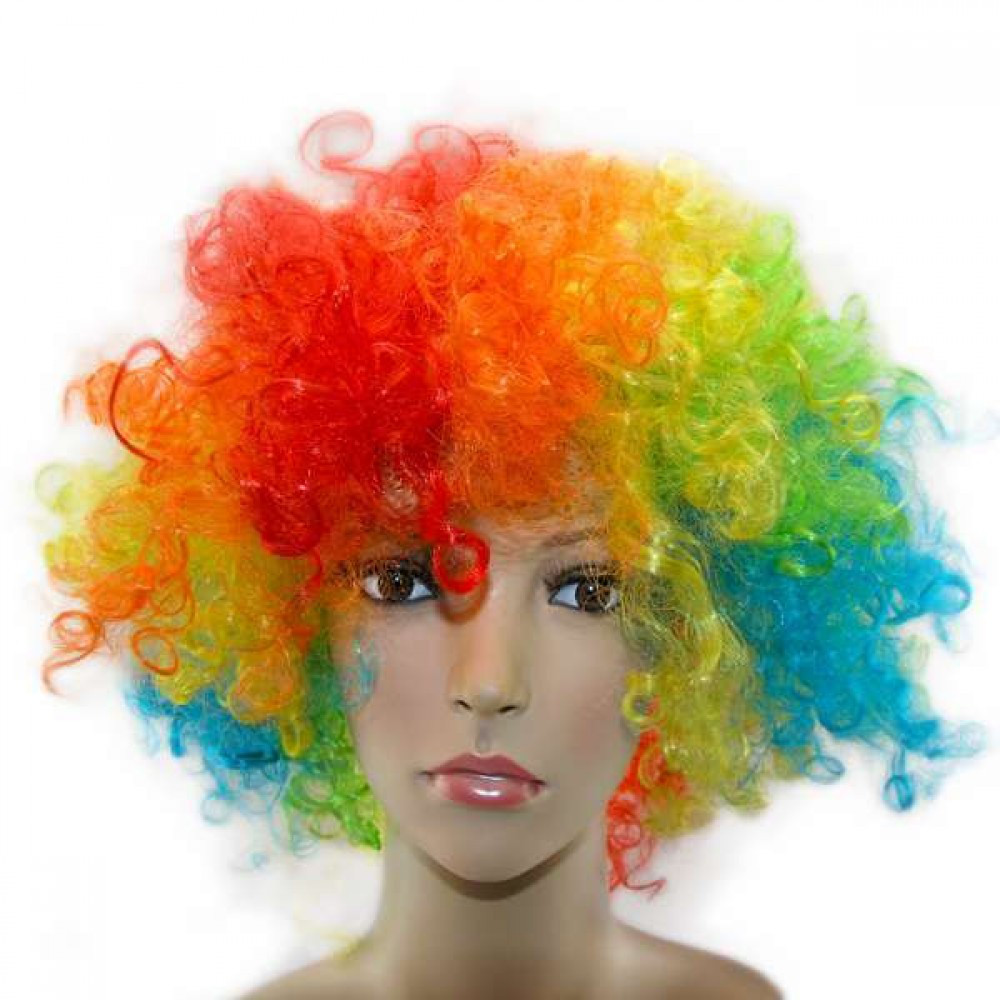 Парик Клоуна радуга