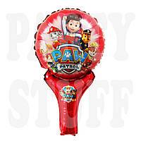 Фольгированный шар Щенячий патруль красный, 48*29 см