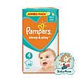 Подгузники Pampers Sleep & Play Размер 4 (Maxi) 8-14 кг, 68 подгузников, фото 3