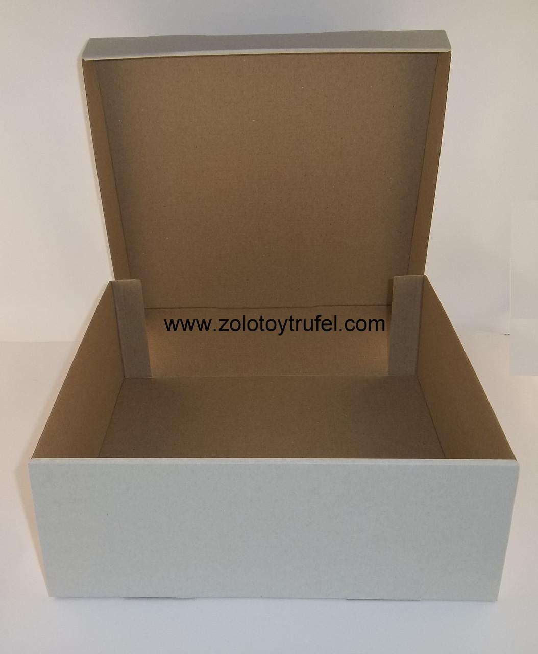"""Картонная коробка для пирогов  """"Белая 30*30*11 см"""""""