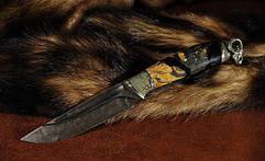 Ножи с литьём охотничьей тематики