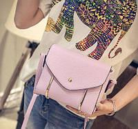 Женская сумка клатч через плечо фиолетовый Уценка