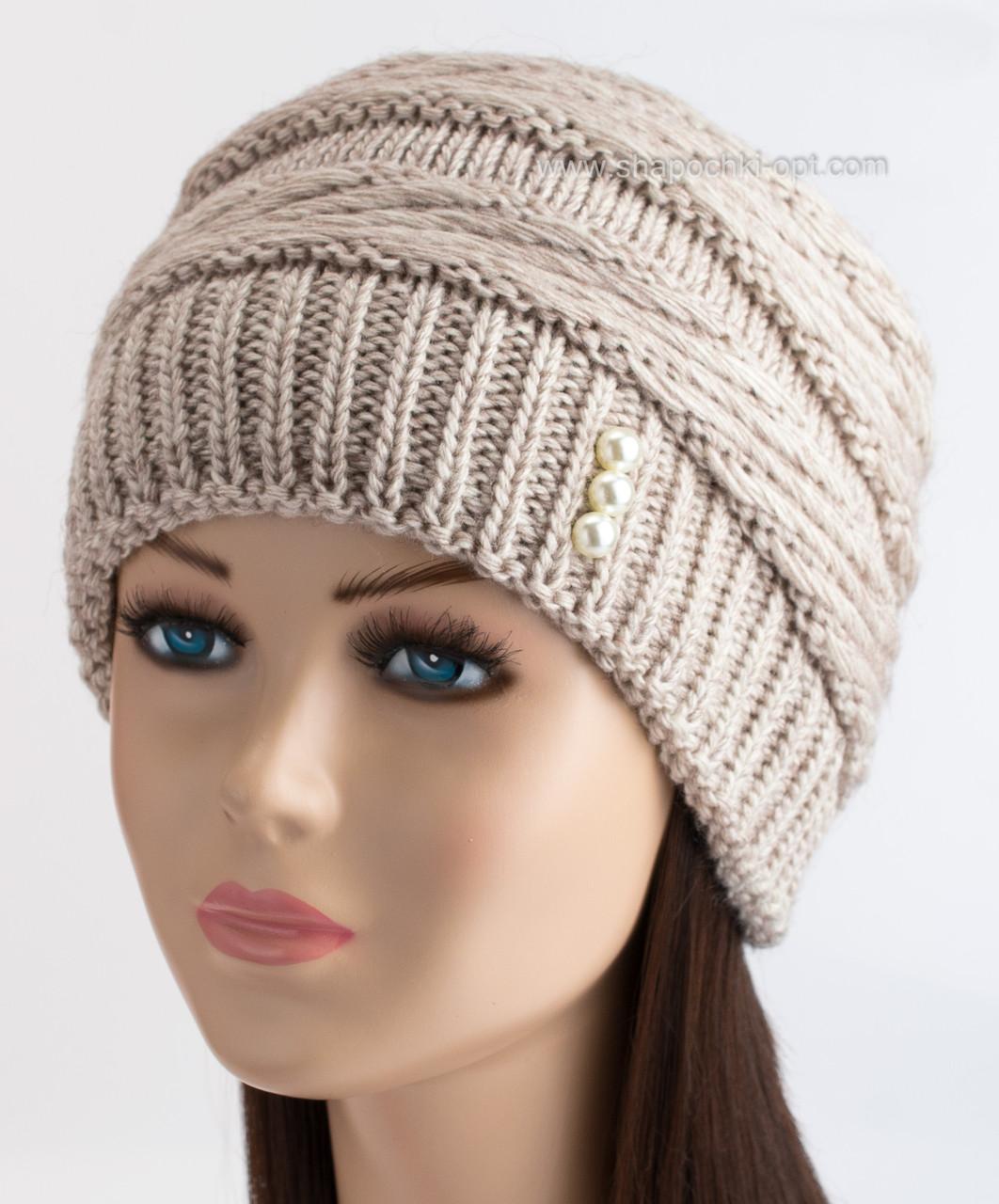 шапка кубанка вязаная светло бежевая продажа цена в одессе шапки