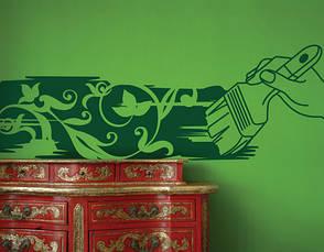 Интерьерная виниловая наклейка Кисть фантазия, фото 2