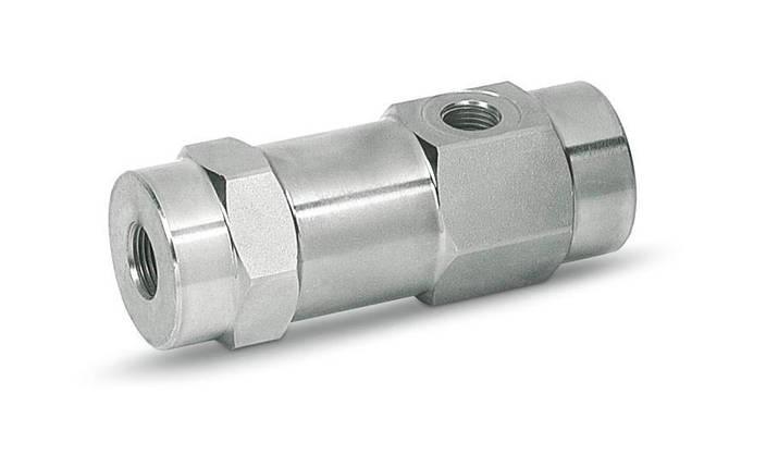 Гидрозамок односторонний 3х линейный (управляемый обратный клапан) 45 л/мин, фото 2