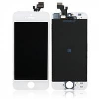 Дисплей iPhone 5S с тачскрином и рамкой белый Оригинал