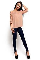 (S-M) Жіноча бежева блузка Jenn