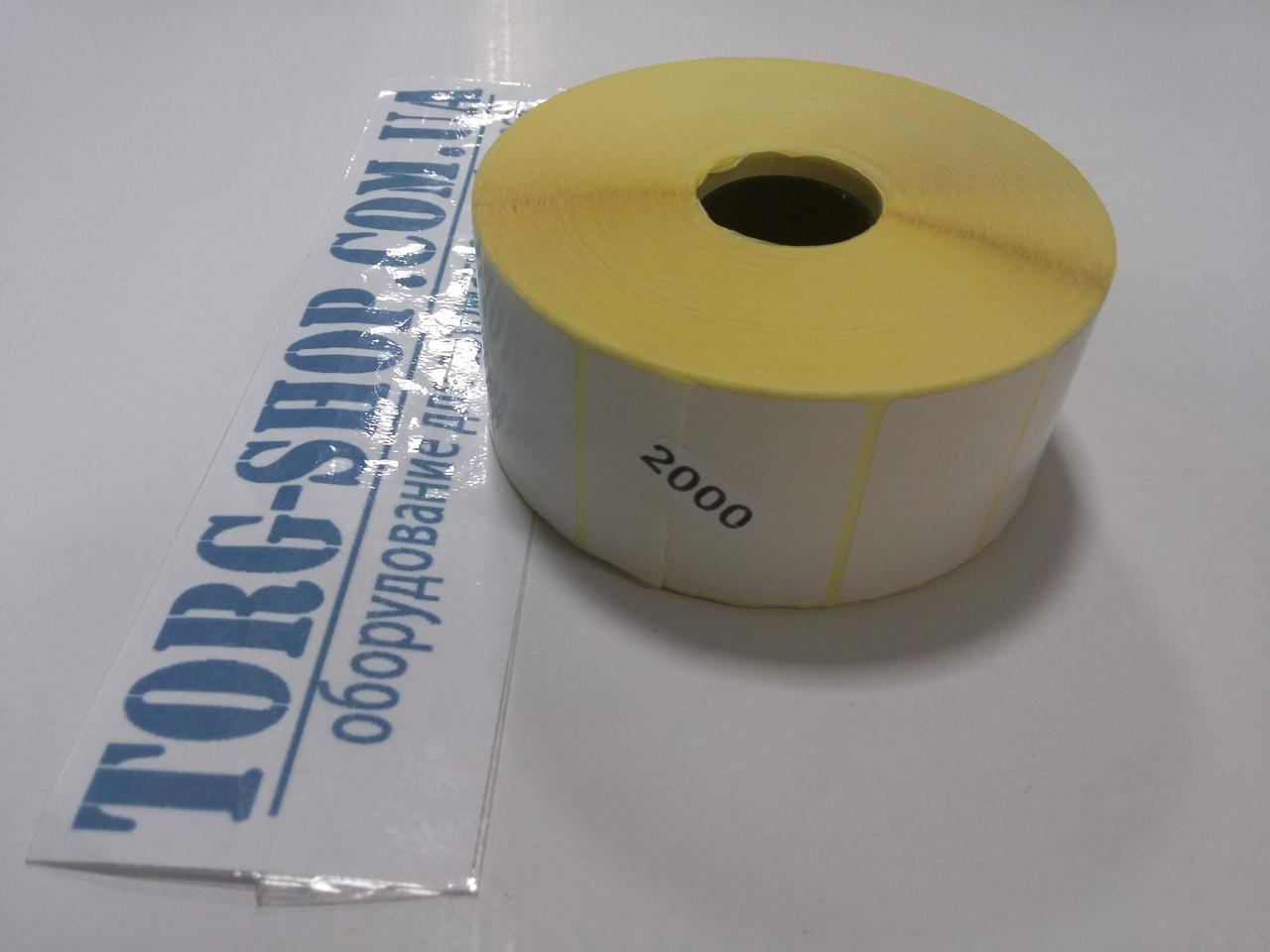 Етикетка напівглянсова Vellum 40х25 (2000 шт. в рулоні) втулка 25 мм