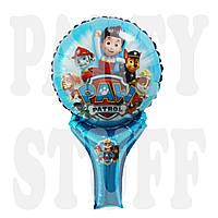 Фольгированный шар Щенячий патруль голубой, 48*29 см