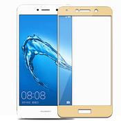 Защитное стекло Full cover  Huawei Y5 2018  Золотое