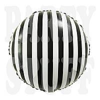 Фольгированный шар черно-белый, 45*45 см