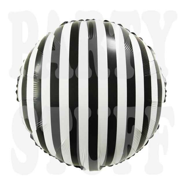 Фольгированный шар черно-белый