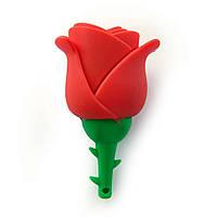 Флешка 8 Gb силиконовая Роза, фото 1