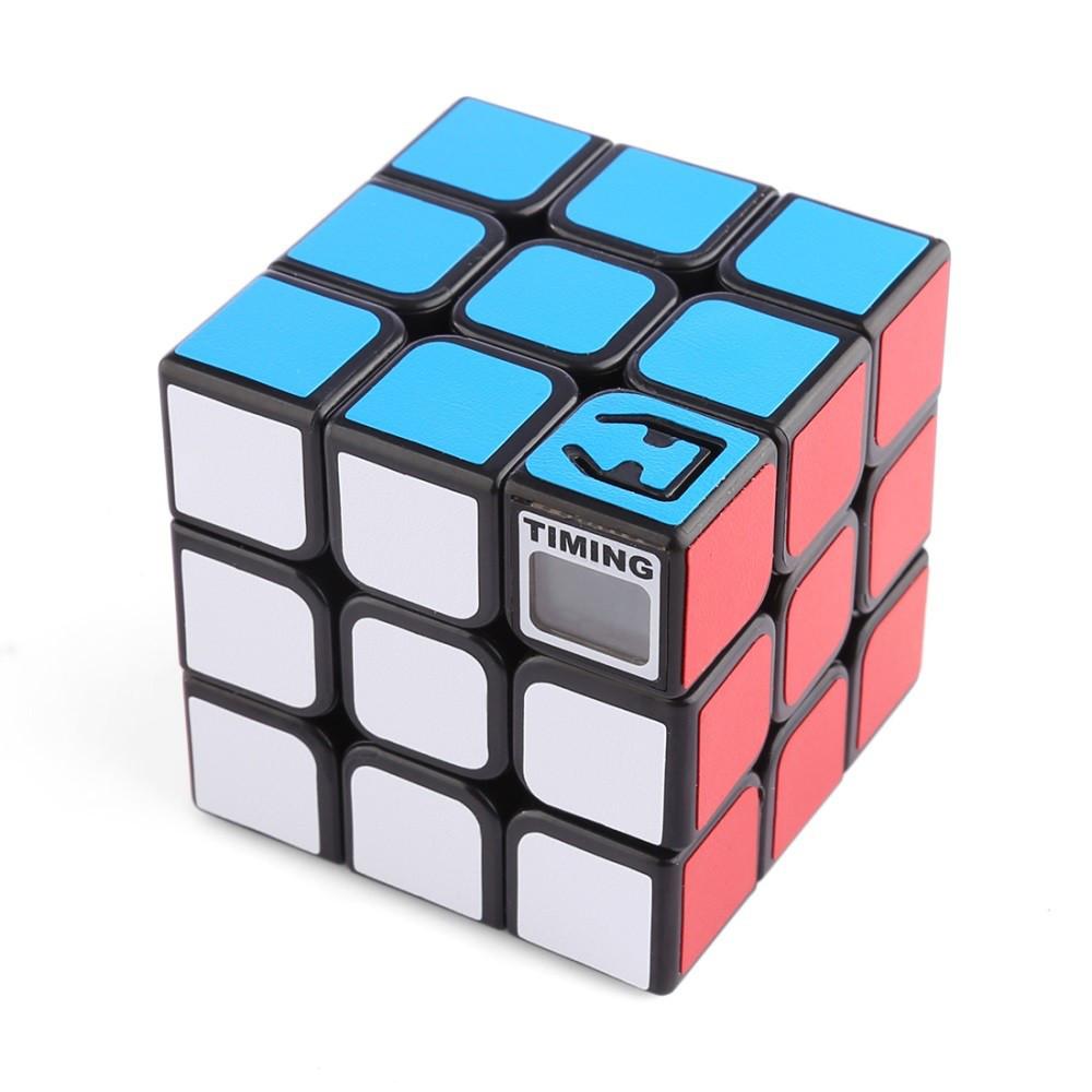 Кубик Рубика 3х3х3 со встроенным таймером черный