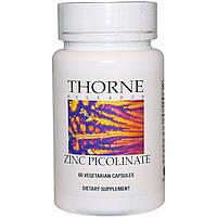 Пиколинат цинка, Thorne Research, 60 капсул