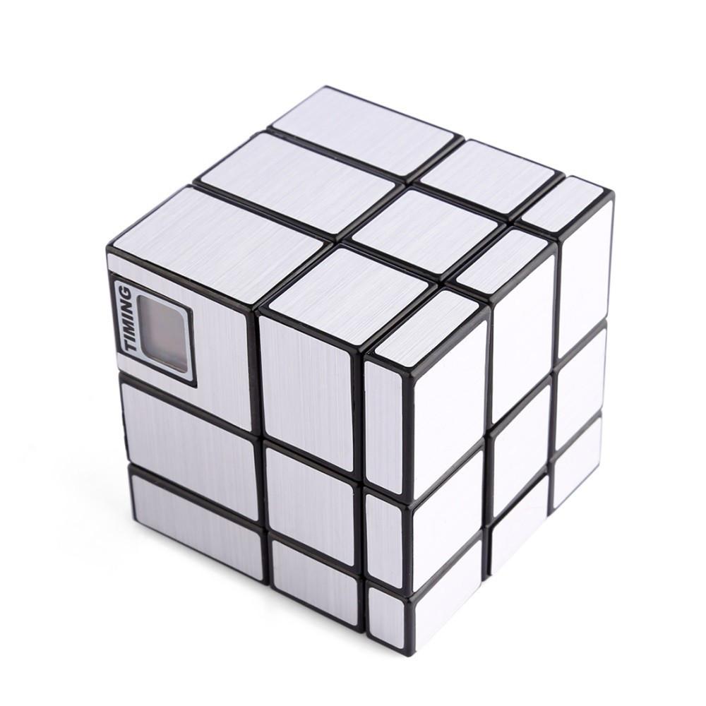 Кубик Рубика 3х3х3 со встроенным таймером серебро