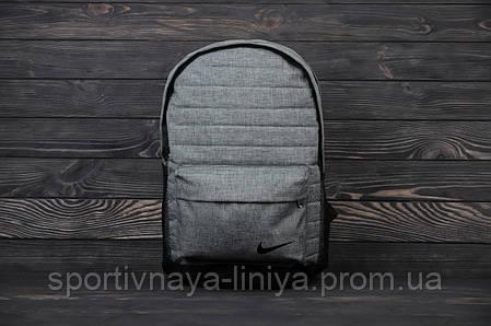 Спортивный серый рюкзак Nike меланж ребристый (реплика), фото 2