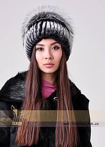 Жіноча хутрова шапка з кролика Рекс