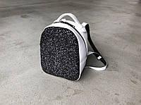 Рюкзак 0016 белый флотар+ черное битое стекло, фото 1