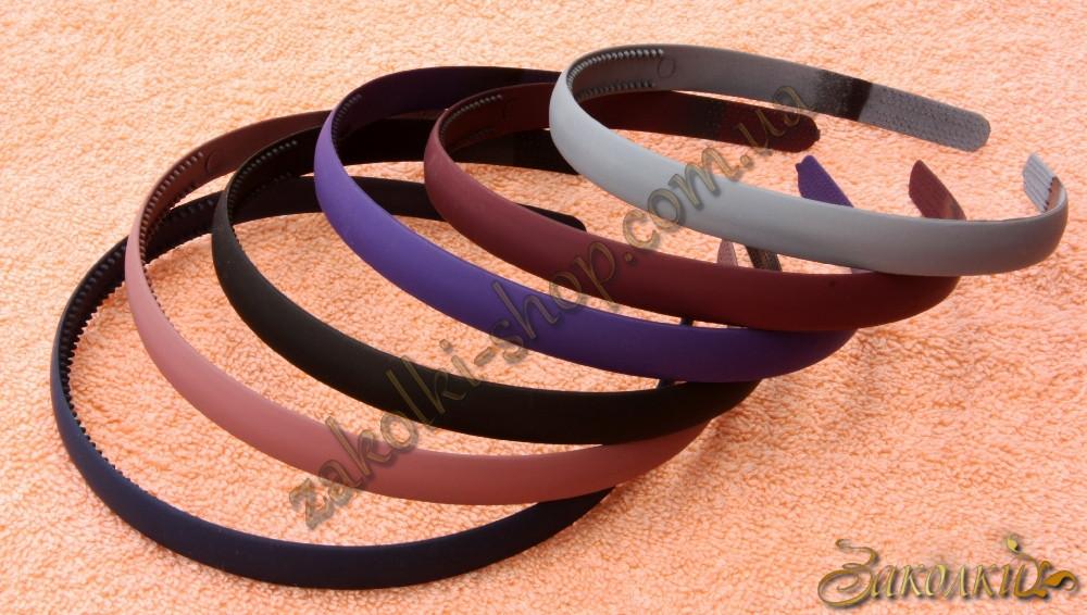 Обруч для волос каучуковый(гнется) темный, ширина: 12 мм, 12 штук в упаковке