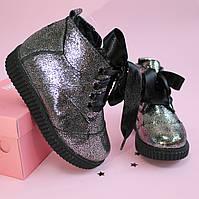 Кожаные зимние ботинки для девочки тм Олтея р.27,28,29,30,31, фото 1