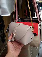 Женская сумка из искусственной кожи  на цепочке