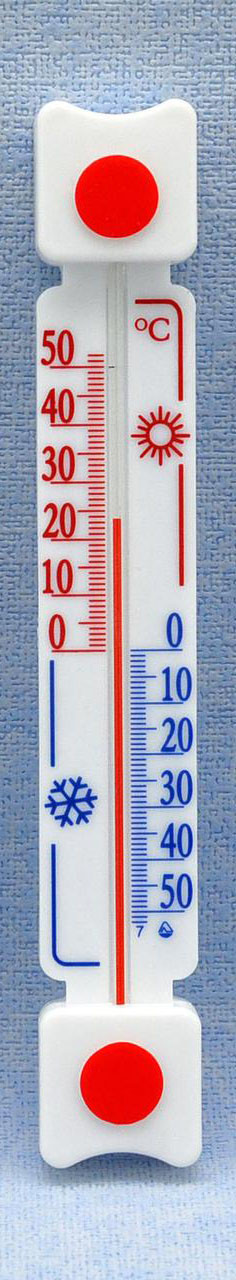 Термометр оконный уличный на хорошей липучке ТБ-3 исп. 5д, фото 1