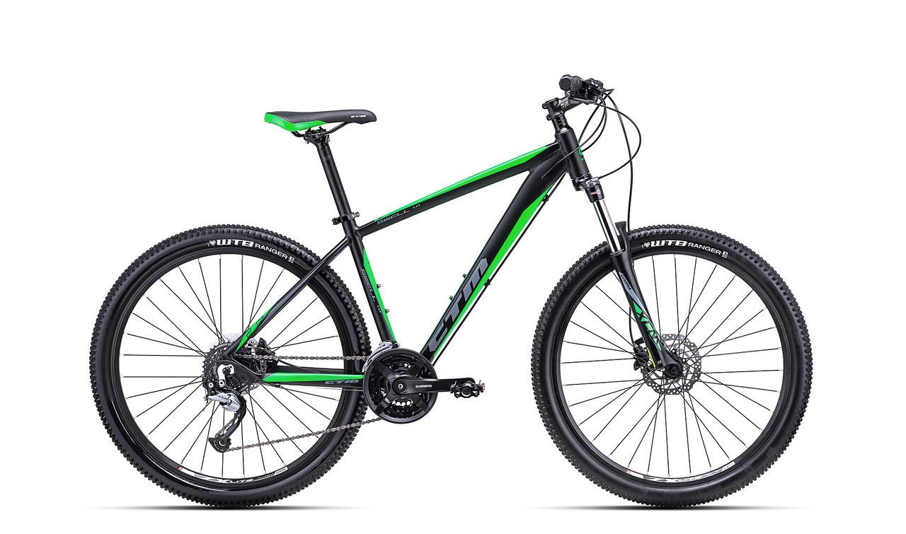 """Велосипед горный CTM Swell 1.0 черно-зелёный (27.5"""")17"""""""