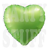 Фольгированный шар Сердце зеленое сатин, 44*45 см
