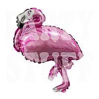 Фольгированная мини-фигура Розовый фламинго, 45*30 см