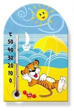 Комнатный термометр на магните «Зоо мир» исп.1 (разные расцветки), фото 1
