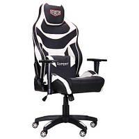 Геймерське крісло VR Racer Expert Virtuoso чорний/білий, TM AMF