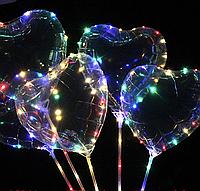 Шар Сердце прозрачное Китай, 44*45 см (18')