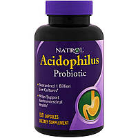 Пробиотики, Acidophilus, Natrol, 150 капсул, фото 1