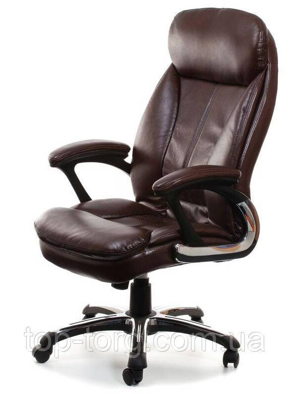 Кресло руководителя CAIUS brown коричневое