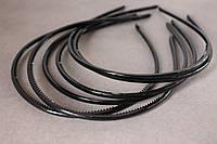 Обруч для волос (ободок) пластмассовый 4 мм черного цвета, фото 1