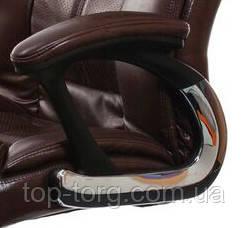 Подлокотники с мягкими накладками. Кресло руководителя, офисное Caius brown 27605 коричневый
