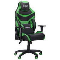 Геймерське крісло VR Racer Expert Champion чорний/зелений, TM AMF