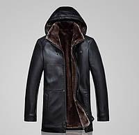 Мужская кожаная куртка с мехом (есть большие размеры) 2 цвета , фото 1
