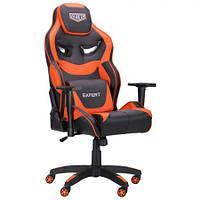 Геймерское кресло VR Racer Expert Genius черный/оранжевый, TM AMF