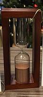 Часы песочные в деревянной оправе 15 минут
