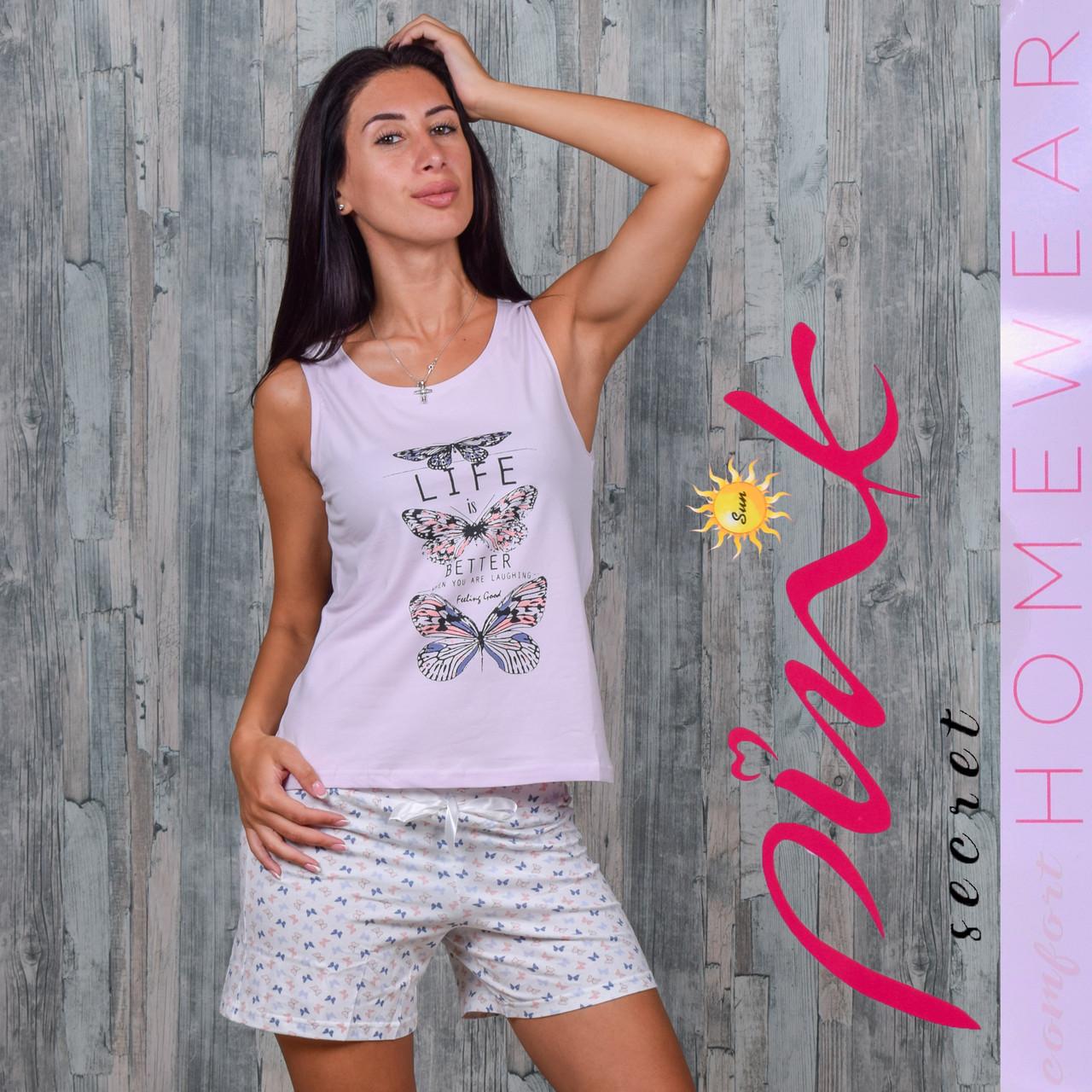5ce5d6bd284cf Женский комплект майка+шорты Турция Pink Secret 4538 M. Размер 44-46 ...