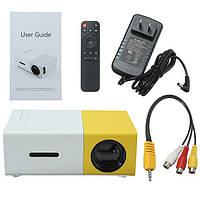 Міні проектор LED Projector YG-300 Mini , колір чорний і жовтий, фото 1