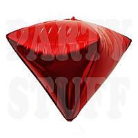 Фольгированный шарик Алмаз красный, 58*40 см
