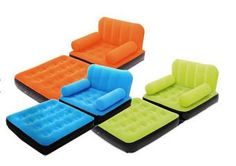 Надувне Bestway 67277 крісло-ліжко трансформер, розмір 191 х 97 х 64 см