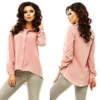 Рубашка женская креп-шифон в 10 расцветках АНД183, фото 1