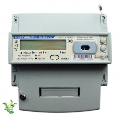 Счетчик электроэнергии CE 303-U AR R33 746-JAYVZ 3x230/400В 5-100А, А±R±, многофункц. двунаправленный